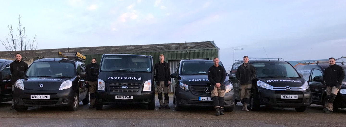 Elliot Electrical guys and vans